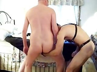 Hung white master barefucks 2 white slaves