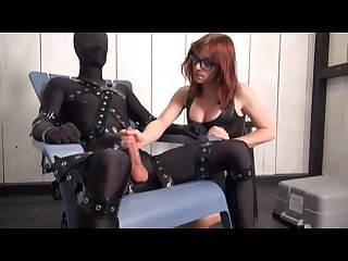 Slave teased and getting handjob