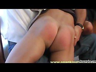 Schoolboys spanked