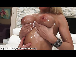Big titty blonde can t get enough cock