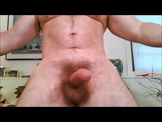 Big dick muscle daddy jacks off cums