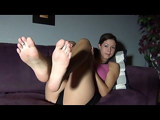 Lola s long toes and feet