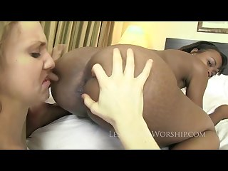 Kelsey licks her butthole clean