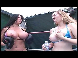 Big boob boxing bimbos