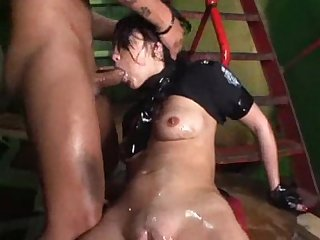 Pumped muff monster anal toy Insertion