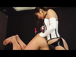 Asian femdom, pegging,toys and machine