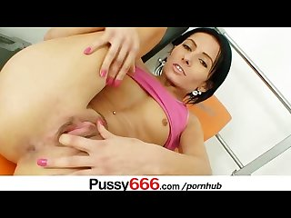 Beautiful latina Victoria rose pussy spreading