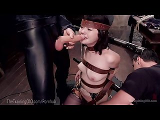Cute slave trainee is examined