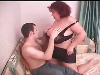 Granny big titted russian seduces young men gets spunk load on tits