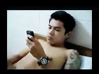 Handsome Pinoy asian jerk off