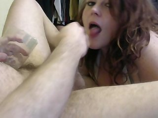 Maddie gives jason an amazing Quickie blowjob