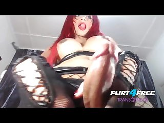 Angelica e on flirt4free transgender redheaded shemale loads of precum