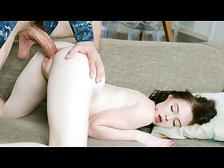 Exxxtrasmall tiny small pussy stretched out by huge cock