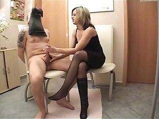 Lady danira smell my boots and cum
