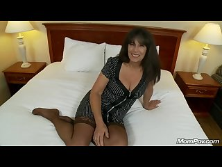 Mature Amateur COUGAR First Time Porn takes Facial POV