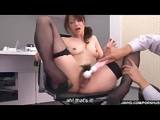 Subtitles beautiful maki hojo fucked hard in office