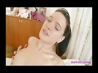 Her first lebian experience licking wet pussy hard
