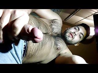 Masturbating in Underwear hot bear Latino cumming on camera lens 4