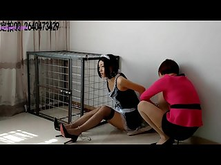 Asian pantyhose bondage