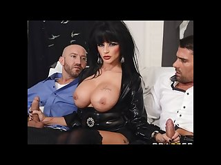 Big tit joslyn james takes two dicks before her halloween party