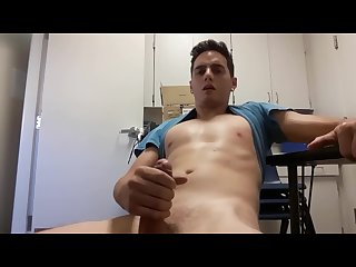 Hot guy too horny to work