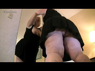 Old mature amazon shows what a giant she is