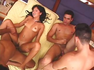 Bi group sex club scene 1