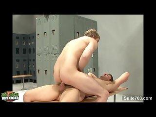 Hot gay jocks fucking in locker room