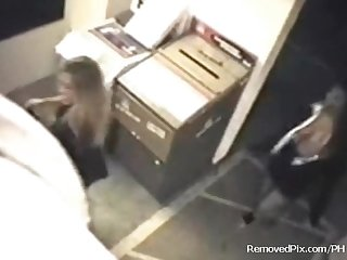 Office lesbians caught on security cam