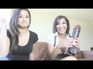 Paki foot dommes insult tiny asian pakidick using big black dravidian dildo