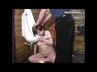 Minami got enema was ordered to lick urinal face pissed and whipped hard