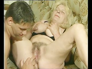 Blonde gilf with big titties
