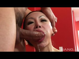 Mama san asian ange venus gets anal fucked