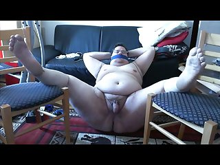 Webcam solo naughty fat pig electro torture cock milking orgasm