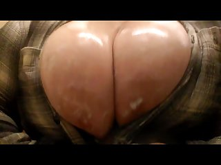 Oiled up big bouncing tits requested