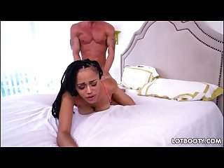 Big booty ebony julie kay with huge natural jugs