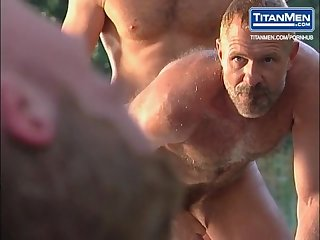 Chainsaw group scene with allen silver brandon Cole dean flynn more