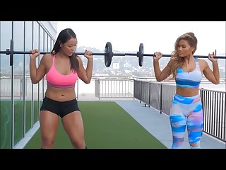Asian fitness workout
