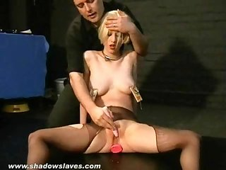 Bizarre humiliation of cherry torn in Painful bdsm and hardcore degradation