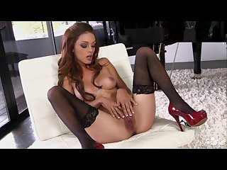Ashley ronquillo finger fucking her wet pussy in heels