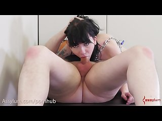 Goth slavegirl put in chains to serve her master s cock and ass