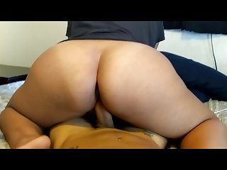 Hot poly bbw sucking bouncing on my dick