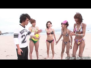 Four Japanese Volleyball Girls Have Wild Orgy (Uncensored JAV)