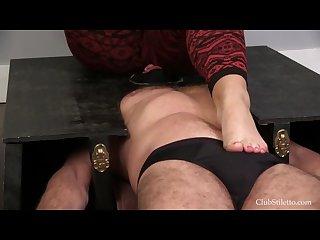 Big goddess trampling slave