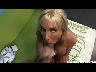 Hot milf takes a big black dick in her tight pussy