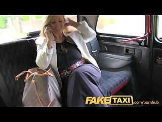 Faketaxi horny after interview and gagging for big cock