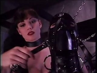 Bondage latex girl