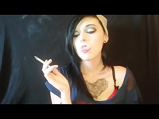 Cute girl smokes