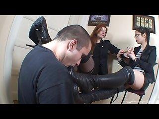Goddess Victoria boots worship
