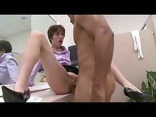 Greedy milf gets a birthday fuck surprise at work